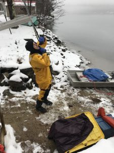 John Cooley preparing to rescue Loon