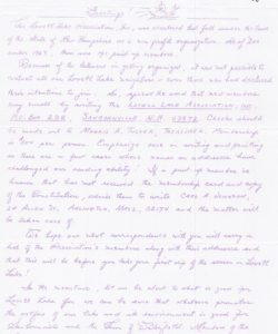 First LLA Newsletter 1964